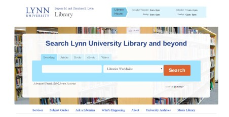Library website image